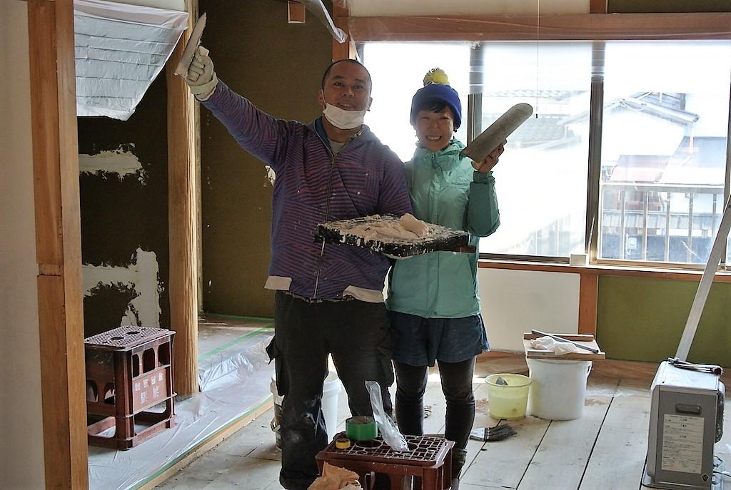 2013年冬漆喰塗り母屋二階